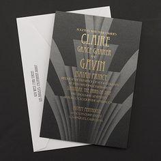 Zephyr - Invitation Discount Wedding Invitations, Art Deco Wedding Invitations, Black And White Wedding Invitations, Unique Invitations, Wedding Stationery, Invitation Wording, Invitation Ideas, Art Deco Wedding Theme, Wedding Themes