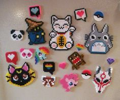 Fun Perler Bead Magnets by AllisonEast on deviantART