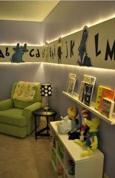 Cool lighting in kids room