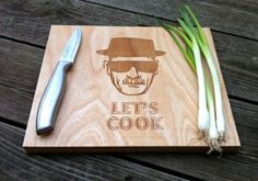 Breaking bad laser cut chopping board