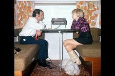 Charles Aznavour and Ulla. 1973