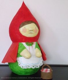 Little Red Riding Hood Pinata by wunderlandhome on Etsy