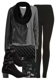 """""""Style #6157"""" by vany-alvarado ❤ liked on Polyvore featuring Topshop, Lot78, Chanel and Yves Saint Laurent"""