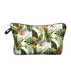 TROPICAL COSMETIC BAG-AQUALUZZA - tropical makeup back, fun carry case for your makeup items. Travel with makeup.