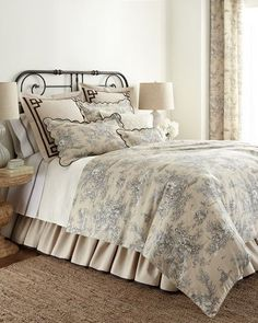 -5E22 C & F Enterprises  King Toile Duvet Cover Queen Toile Duvet Cover Twin Toile Duvet Cover