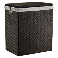 Threshold™ Paper Rope Hamper - Dark Brown  From Target, matches some baskets I already have with this floral print. Love it!