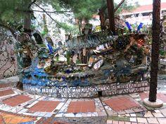 Isaiah Zagar sanctuary. Incredible mosiac work!