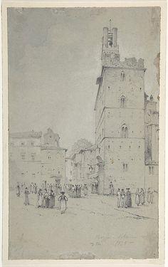 David Roberts | The Palazzo dei Priori, Volterra | The Met