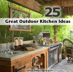 1000 images about outdoor kitchens on pinterest outdoor for Great outdoor kitchen ideas