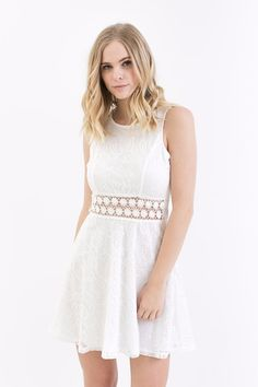 Lila Lace Dress in White