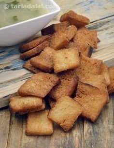 Crunchy croutons have the power to transform a normal soup or salad into an exciting treat! Loved by kids and adults alike, croutons are also easy to make at home. All you need are a few slices of bread and some oil for deep-frying.