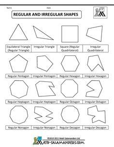 polygon shapes regular and irregular shapes col   School Math ...