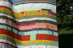patched strip quilt: making this (in duvet form) for our new down comforter!