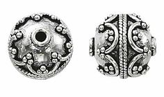12 Mm Sterling Silver Bali Style Bead - Pack Of 2 by Wire-Sculpture. $23.57. Made of sterling silver. Measures 12mm. Pack of 2. Add pizzazz to your jewelry with very detailed Sterling Silver Bali Beads.