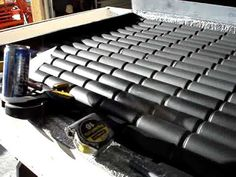 Pop soda beer can Solar Powered heater furnace panel -- Part 1 - YouTube