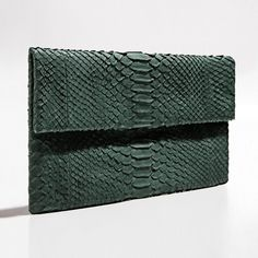 Green olive python clutch by Verinosa More colors www.verinosa.ee