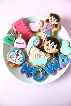 DORAEMON icing cookies. Shizuka-chan icing cookies. しずかちゃんのアイシングクッキー
