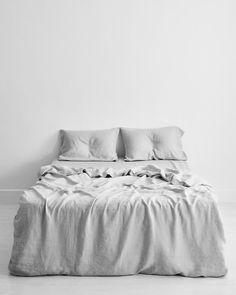 Flax Linen Bedding Set - Fog Flax Linen Bedding Set – Bed Threads -Fog Flax Linen Bedding Set - Fog Flax Linen Bedding Set – Bed Threads - Chateau Shack Tiny Home on Wheels Linen Sheets, Bed Linen Sets, Linen Duvet, Linen Pillows, Double Bedding Sets, King Bedding Sets, Ikea, Zara Home, Master Suite