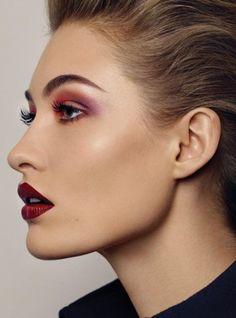 1980's Makeup Style.Harper's Bazaar US May 2017.