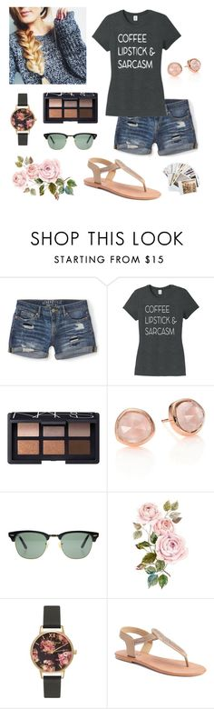 """""""Soccer and school run my life! 😁"""" by isabel-harsh ❤ liked on Polyvore featuring Aéropostale, NARS Cosmetics, Monica Vinader, Ray-Ban, Olivia Burton, Mudd and Chronicle Books"""