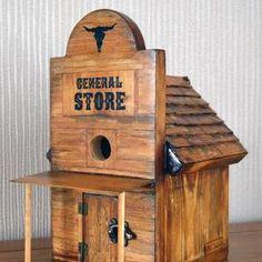 Wooden Bird Feeders, Wooden Bird Houses, Bird Houses Diy, Bird House Plans, Bird House Kits, Wood Projects, Woodworking Projects, Homemade Bird Houses, Bird Boxes