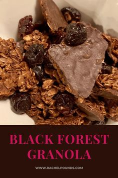 Black Forest Granola - By the Pounds Chocolate Granola, Decadent Chocolate, Chocolate Cherry, Chocolate Flavors, Chocolate Desserts, Black Forest Cake, Star Food, Dried Cherries, New Flavour