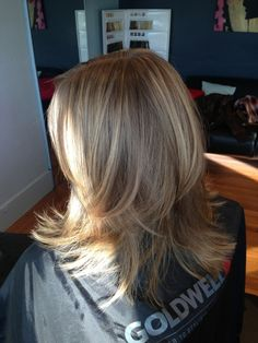 Light brown hair with natural cool blonde highlights by Libby Engel