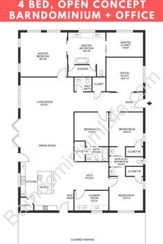 Pole Barn House Plans, Pole Barn Homes, New House Plans, Dream House Plans, House Floor Plans, Metal House Plans, Loft Floor Plans, Bedroom House Plans, Barn Plans