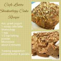 Yoghurt cake with Cook Expert - HQ Recipes Shakeo Mug Cake, Shakeology Mug Cake, Shakeology Cafe Latte, Protein Shake Recipes, Smoothie Recipes, Protein Smoothies, Fruit Smoothies, 21 Day Fix Snacks, Night Snacks