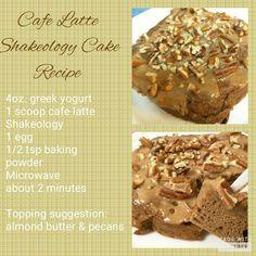 Cafe Latte Shakeology Cake