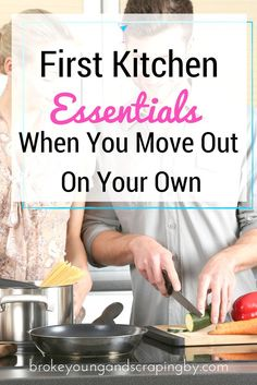 Moving out on your own can be stressful! Here's a list of kitchen essentials to make it easier.