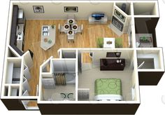 400 square foot apartment floor plan - Google Search