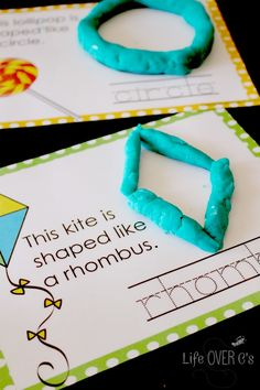 Free Shape Play Dough Mats for working on fine-motor skills while learning shapes and practicing handwriting.