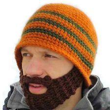 Handmade Knitted Crochet Beard Hat balaclava Winter for Men Warm Bicycle  Mask Ski Cap Roman knight Octopus Cool Funny Beanies Promotion d42691eb932
