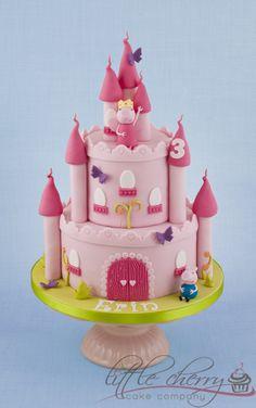 Peppa Pig Castle Cake - Peppa and George