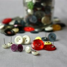 Turning found objects in to wearable art. Button earrings are really simple and very cute. Vintage or unique buttons really draw the eye.