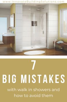Before exploring the idea of having a curbless walk in shower in your bathroom you NEED to ready these big mistakes to avoid | Innovate Building Solutions | #CurblessShowers #BathroomShower #WalkInShowerDesign #ShowerEnclosure | Shower Enclosure Ideas | Walk In Shower Design | Curbless Shower How To
