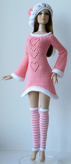 Dress, Hat & Leg Warmers - (no pattern) #