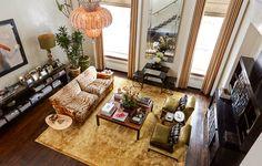 Carole Radziwill's couch. Beautiful.