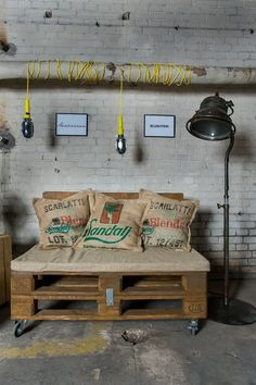 Paletowe siedzisko - FabrykaPalet - Sofy i fotele