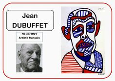 Jean Dubuffet - Portrait d'artiste - ALL Pin Art Montessori, Jean Dubuffet, Art Worksheets, Ecole Art, Plastic Art, High Art, Portrait Art, Portraits, Land Art