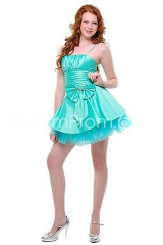 Cute Blue Dress with Ribbon and Bow.