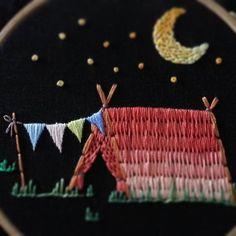 #embroiderylicious #embroiderydesign #handembroidery #stitch #night #camping #stitching #도안작업 #프랑스자수배우기 #캠핑