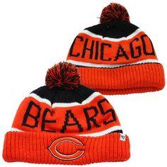 87d01083e89 47 Brand Chicago Bears Calgary Cuffed Knit Hat - Orange Navy Blue
