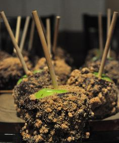 Recipe for Chocolate Chip Cookie Caramel Apples! (so going to try it! and looks easy to do too!)