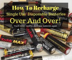 How to recharge disposable alkaline batteries