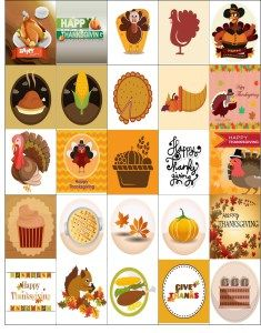 Free Printable-Happy Thanksgiving Printable Planner Sticker Sheet
