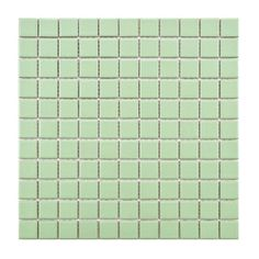 SomerTile 12-inch Victorian Matte Green Porcelain Mosaic Tiles (Pack of 10) | Overstock.com Shopping - Big Discounts on Wall Tiles
