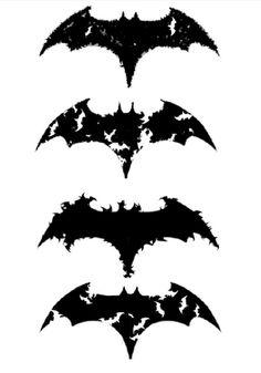 Batman logo designs, one will possibly my next tattoo