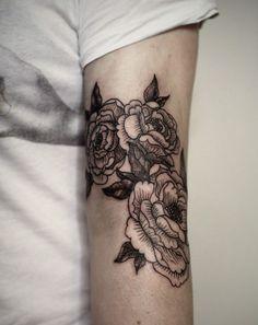 Flower Tattoo By Aleksei Burkov | Minimal Tattoos